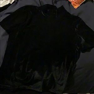 Madewell Short Sleeve Velvet Turtleneck